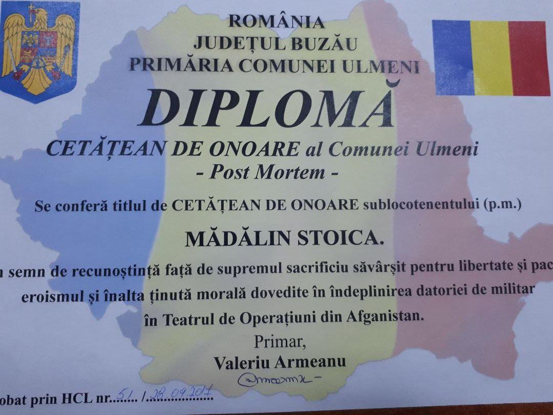 Diploma Madalin Stoica
